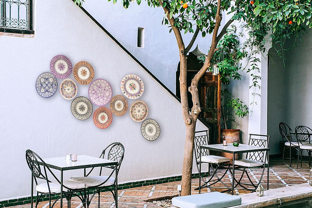 Platos de cerámica para patios